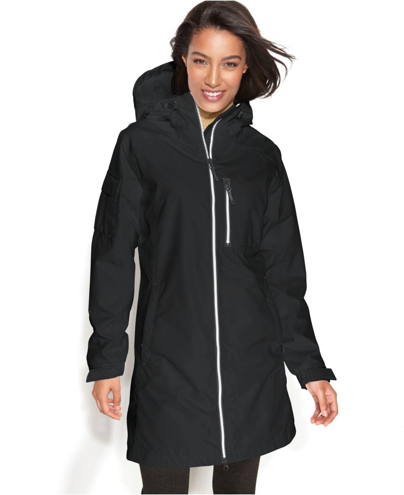 Long Black Rain Coat - Coat Nj