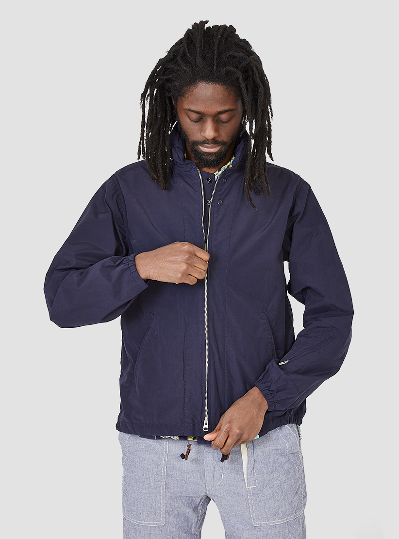 Engineered Garments Nyco Poplin Ground Jacket Navy in Blue for Men