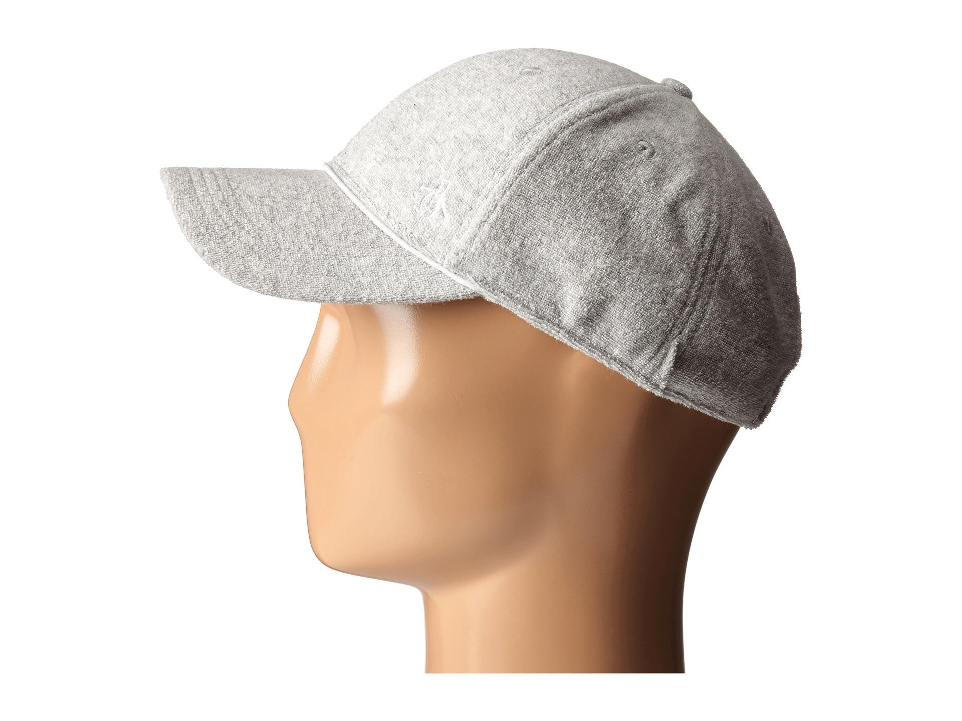 Lyst - Original Penguin Terry Cloth Baseball Cap in Gray for Men f868f73b37a