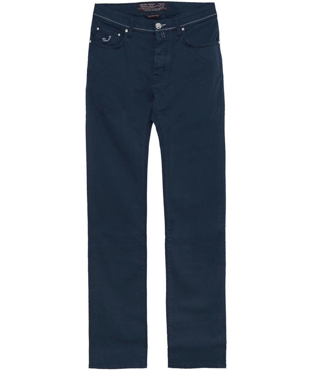 Jacob cohen slim fit gabardine jeans in blue for men - Jacob cohen denim ...