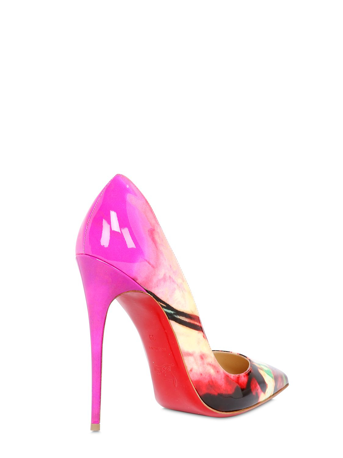 Christian louboutin 120Mm So Kate Tie Dyed Patent Pumps in ...