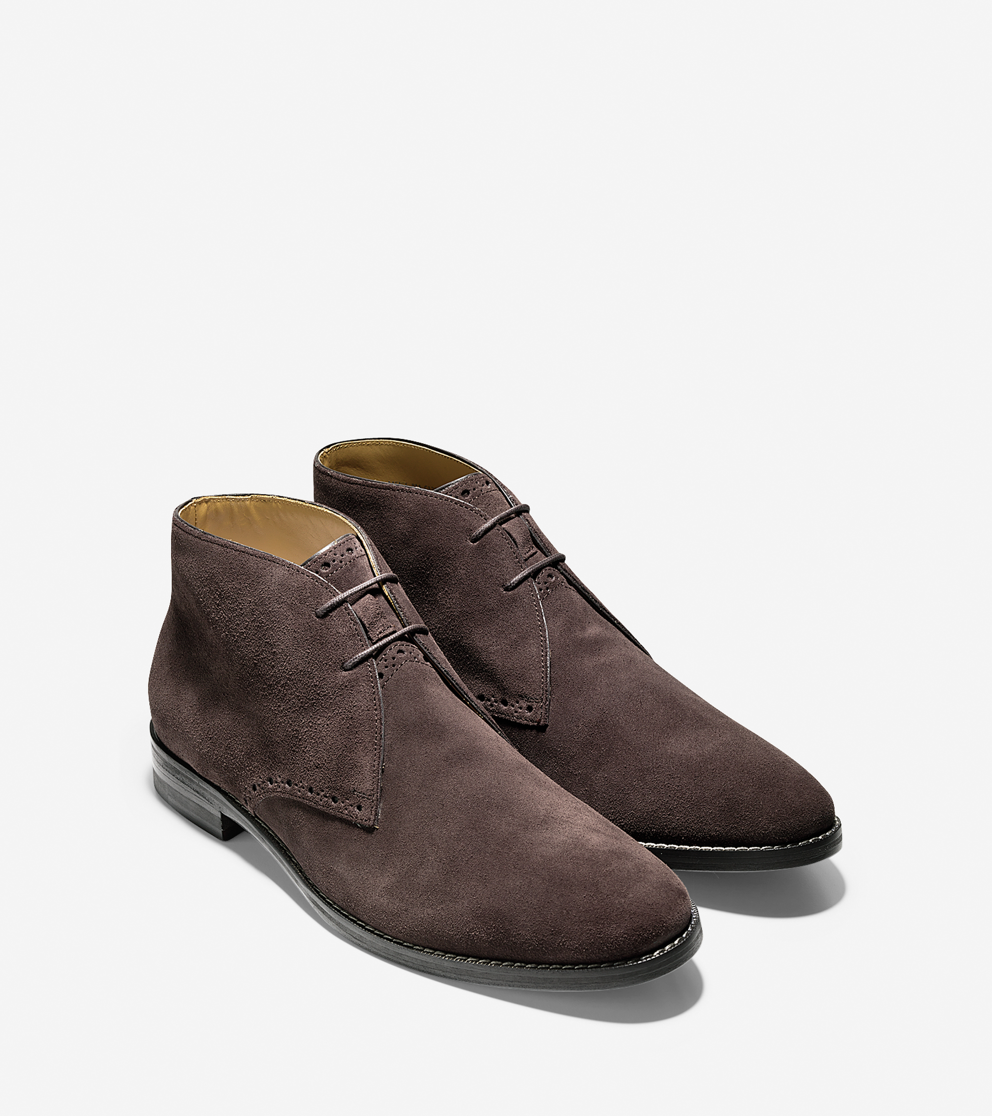 cole haan cambridge suede chukka boots in brown for lyst