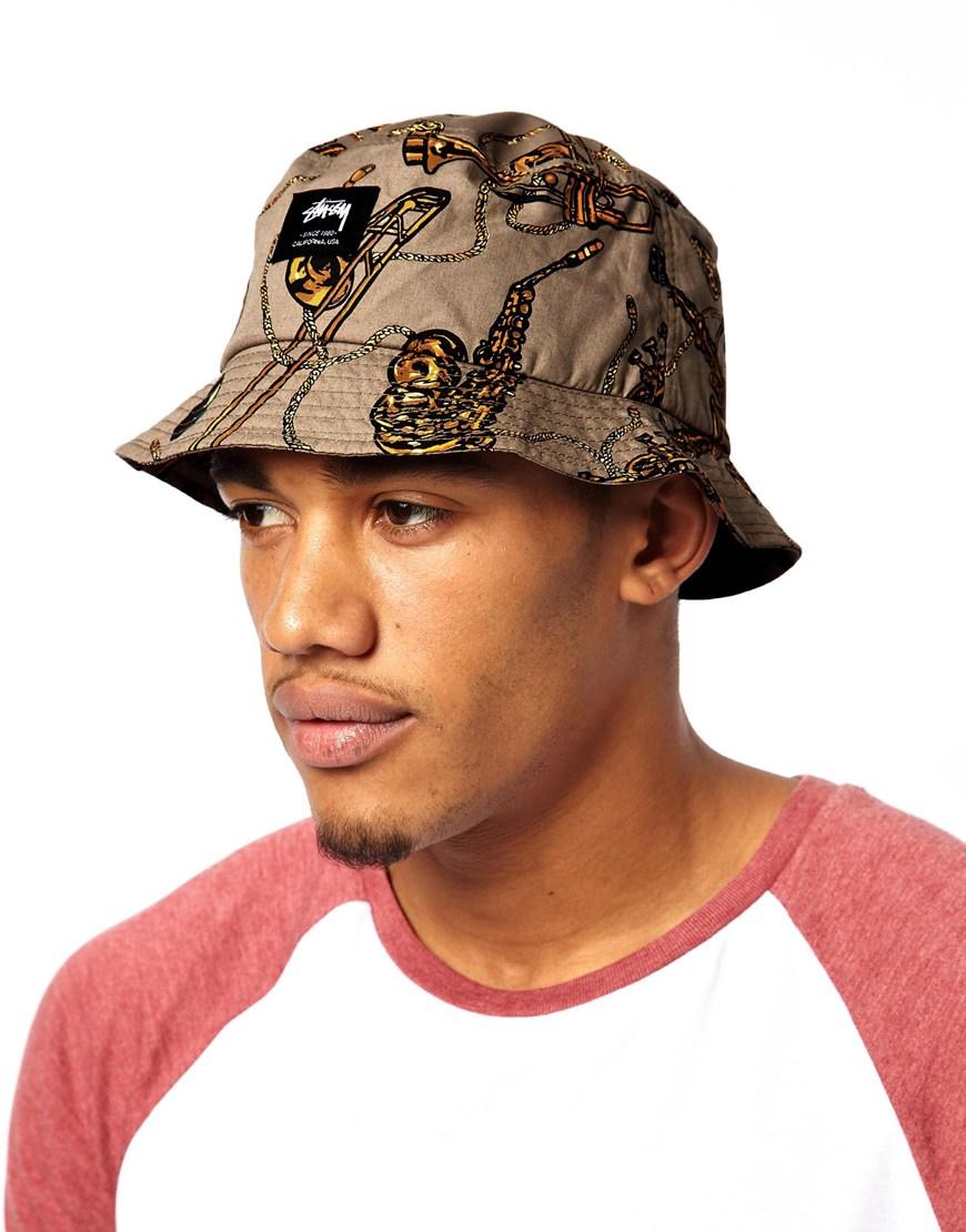 Stussy Brass Bucket Hat In Natural For Men Lyst