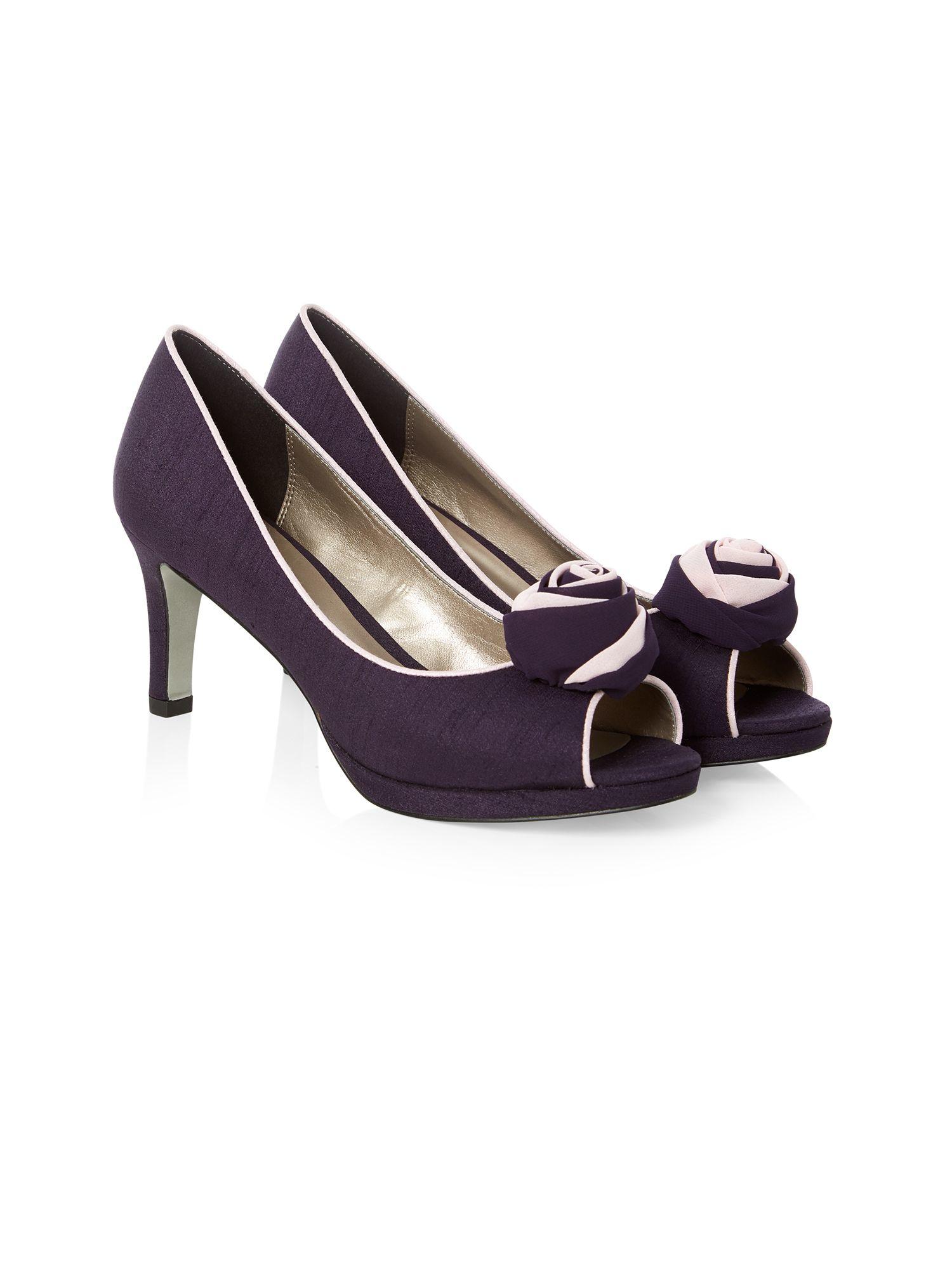 Jacques Vert Two Tone Flower Shoe In Purple Lyst