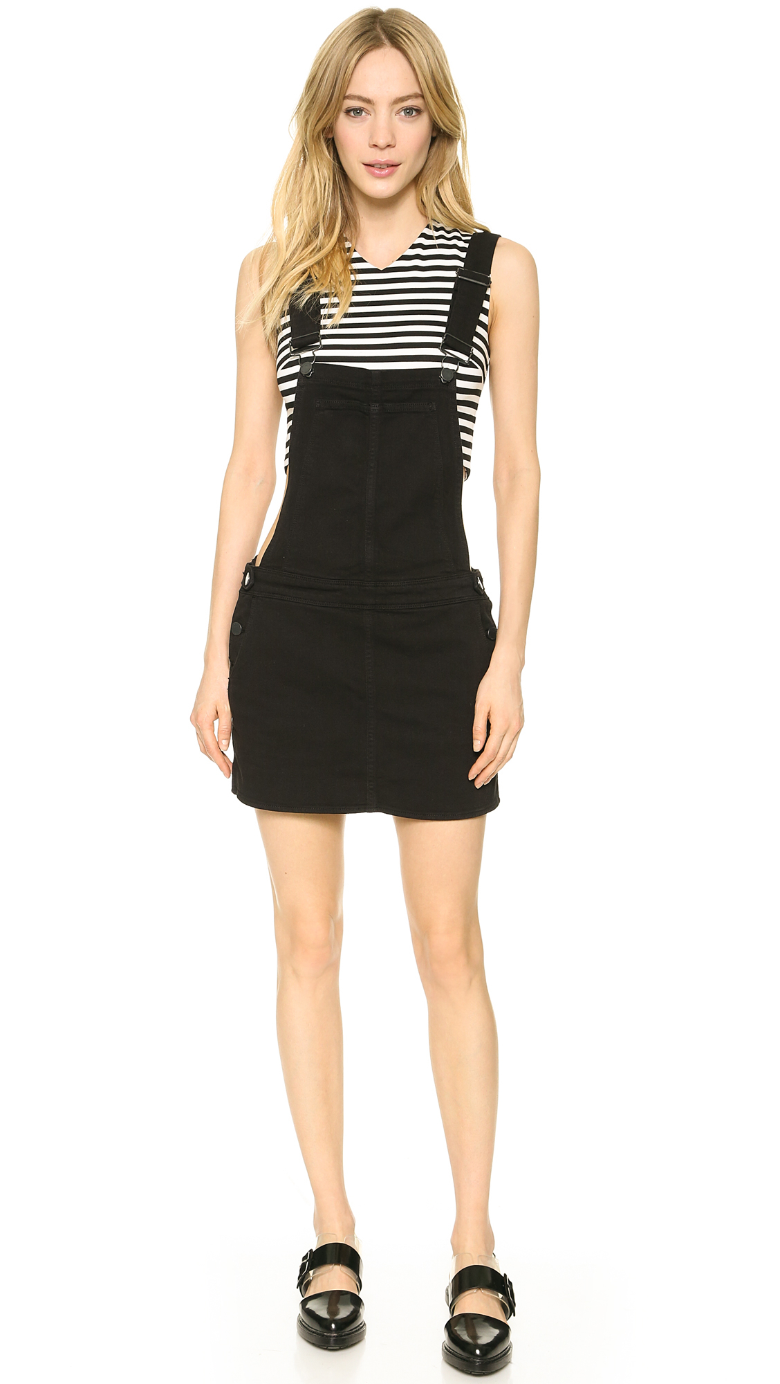 Black Overall Dress Paige Danielle Overall...