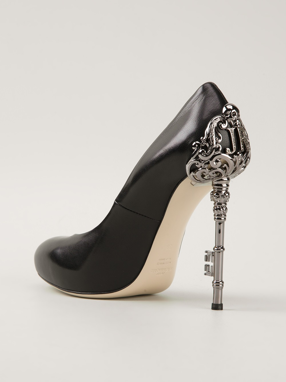 Lyst John Richmond Black Label Embellished Heel Pump In