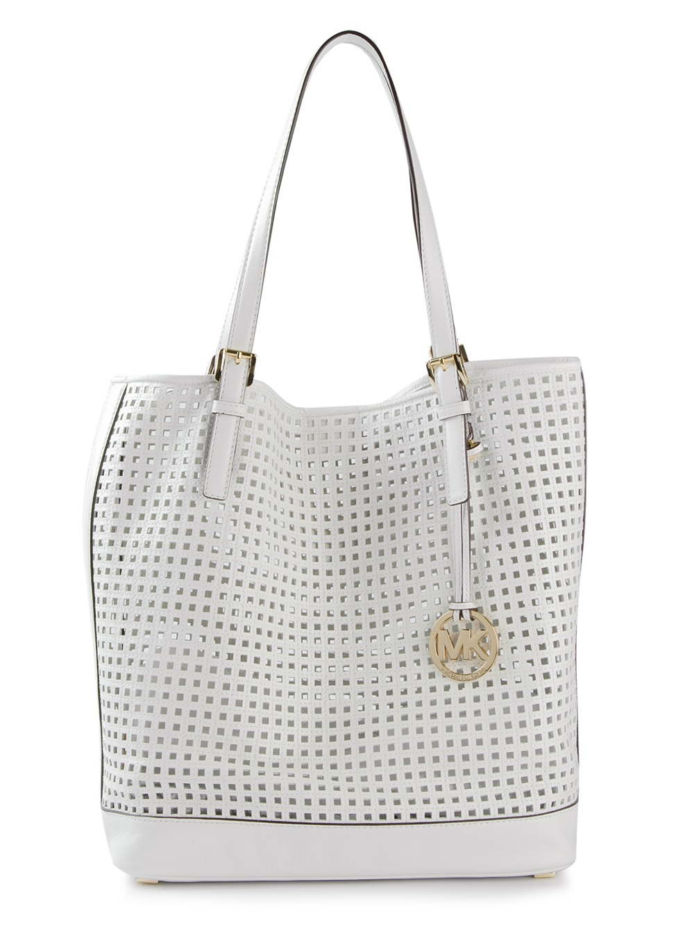 Lyst Michael Michael Kors Perforated Tote In White
