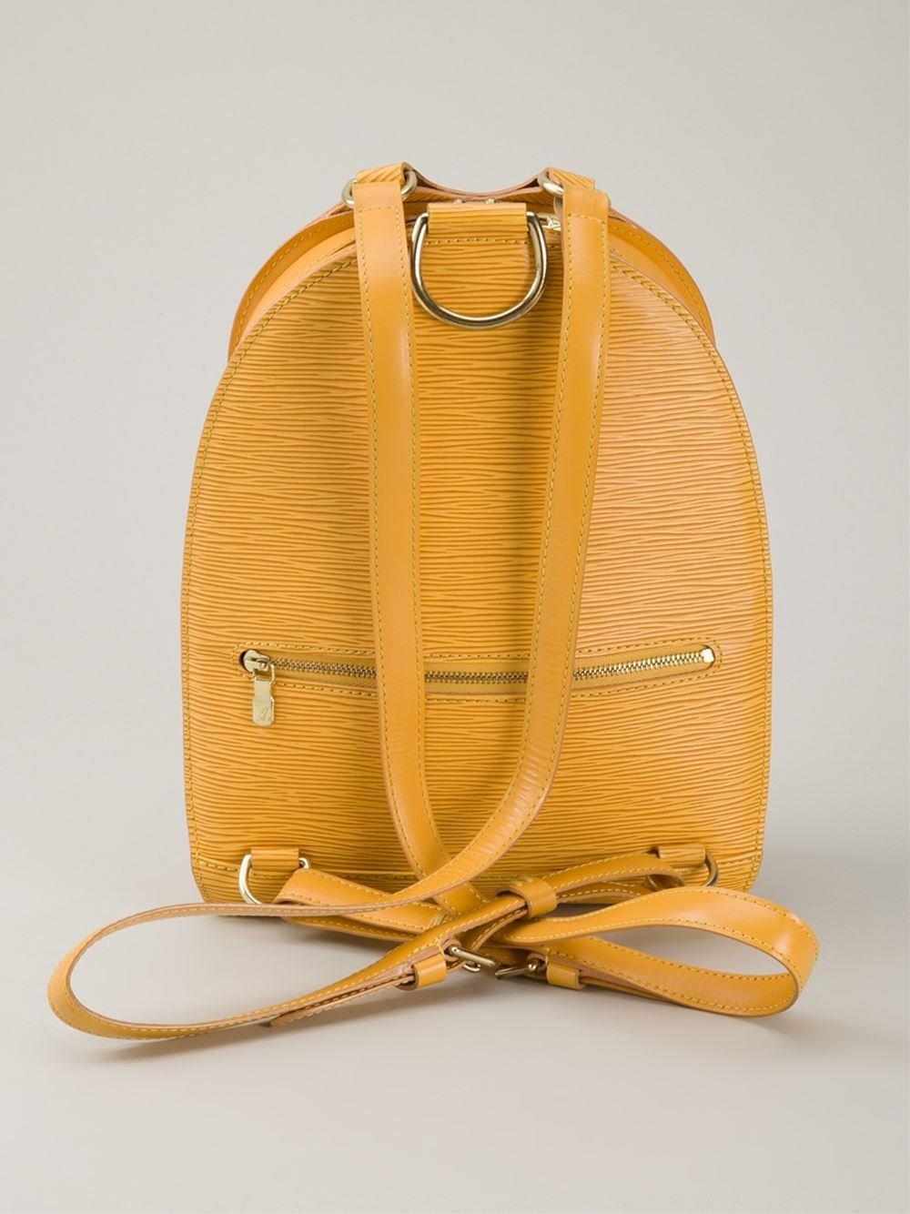 acf86fd78ef9 Louis Vuitton Yellow Epi Gobelins Backpack