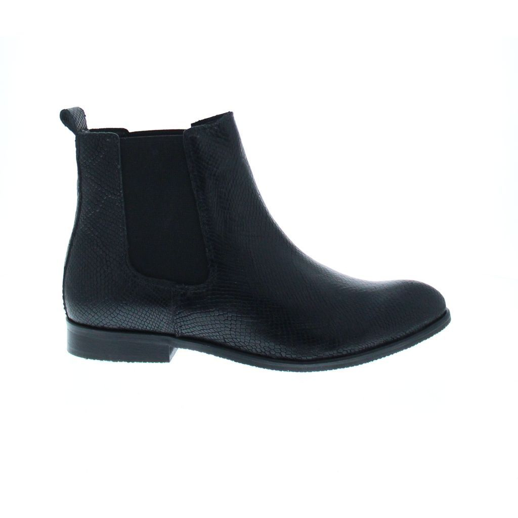 bronx leather lizard chelsea boot in black lyst