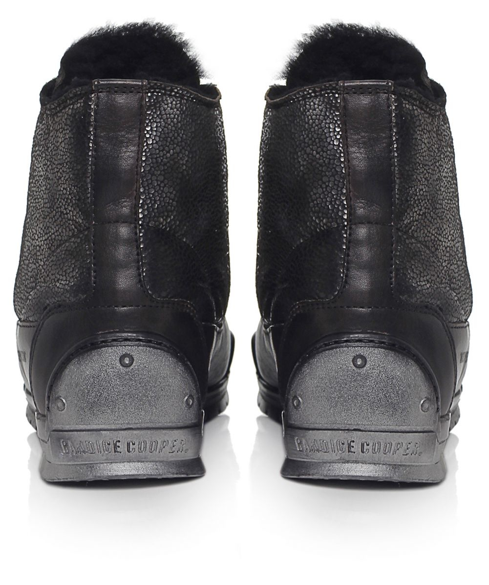 Candice cooper metallic fish scale trainers in gray lyst for Fish scale boots