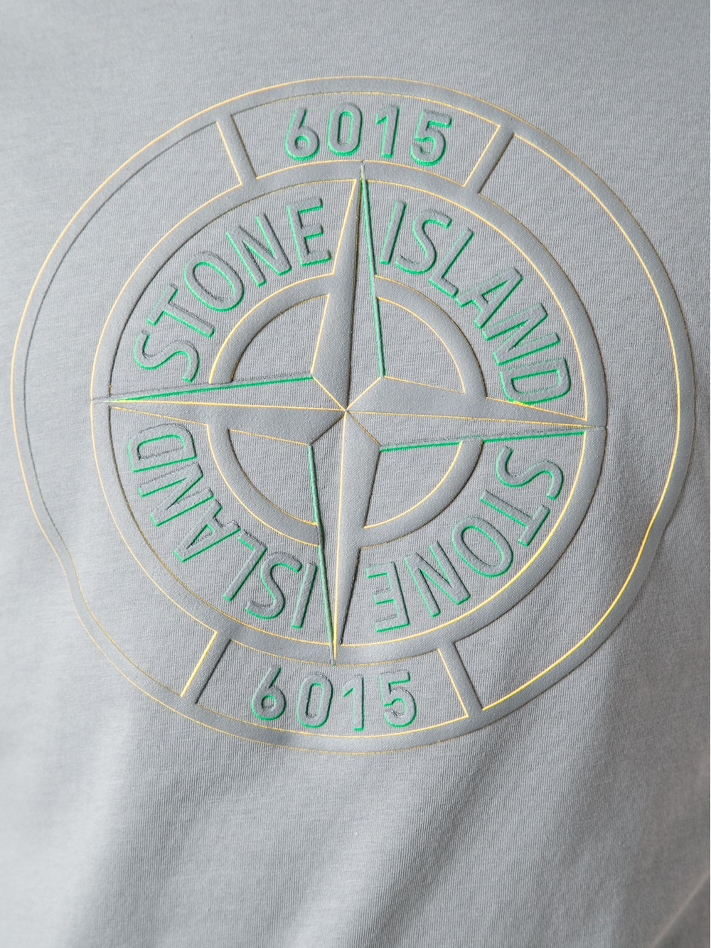 Lyst Stone Island Logo Tshirt In Gray For Men