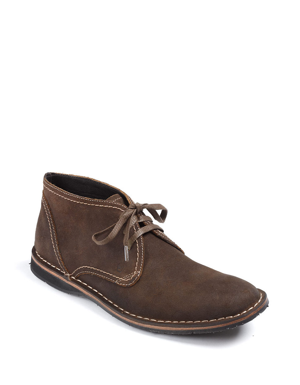 varvatos suede chukka boots in brown for