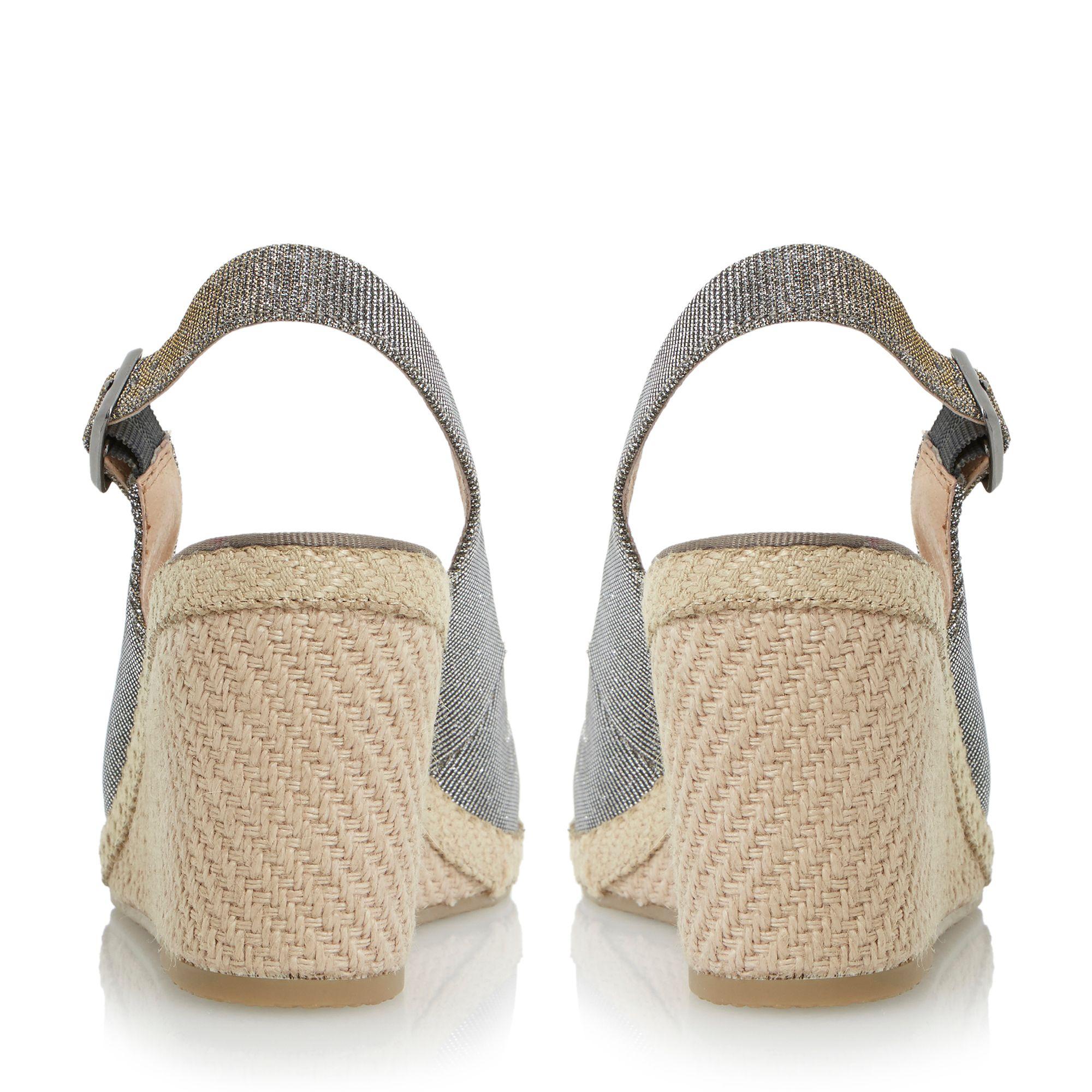 Dune Karley Espadrille Slingback Wedge Sandals In White Lyst