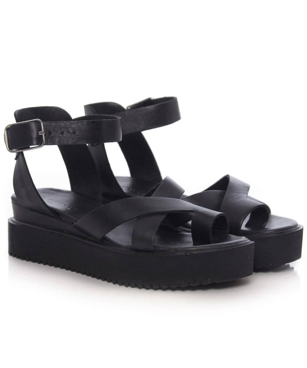 Lyst Inuovo Multi Strap Sandals In Black