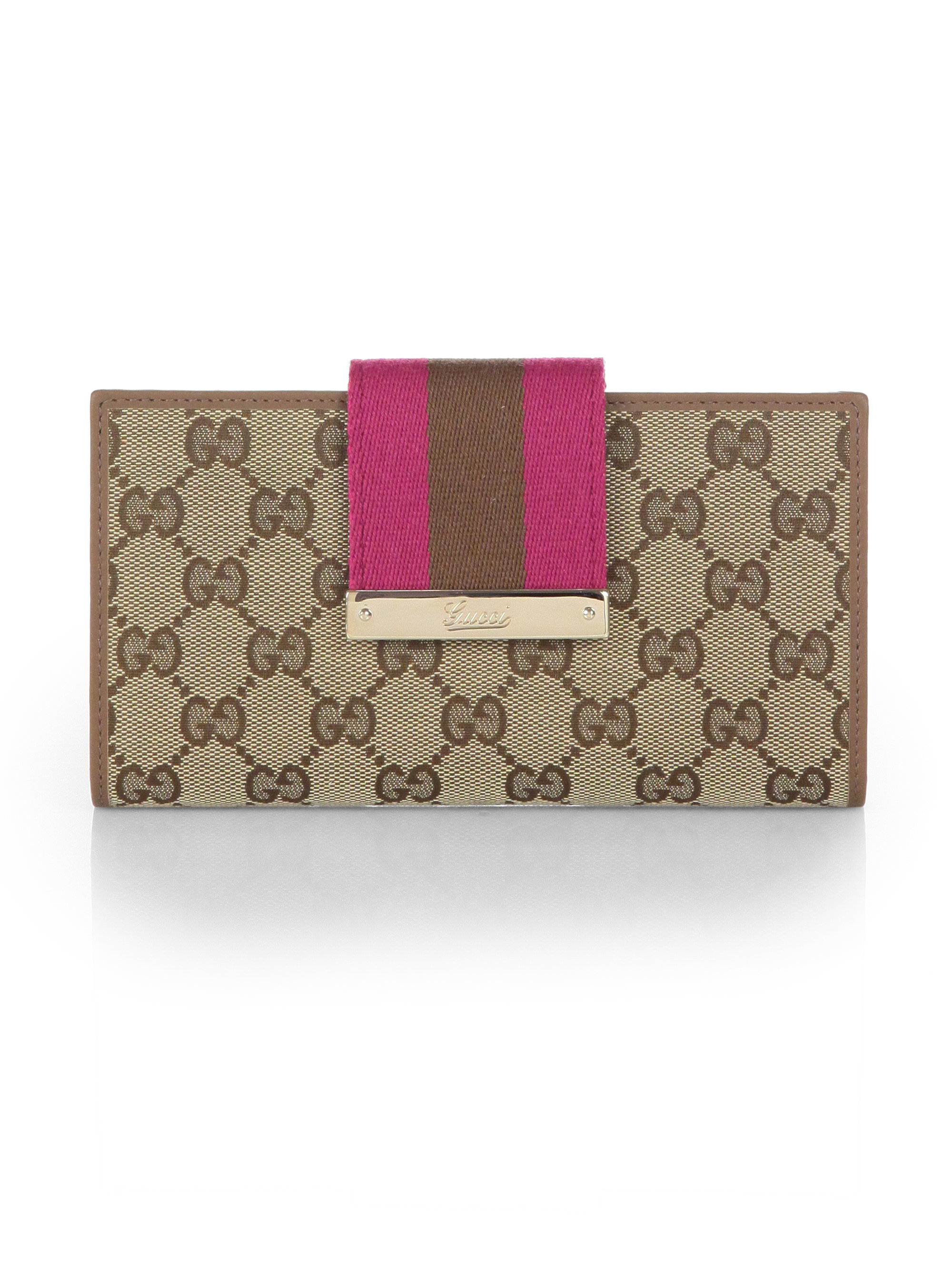 8e7c9cfb6ba9 Gucci Ladies Web Original Gg Canvas Continental Wallet in Brown - Lyst