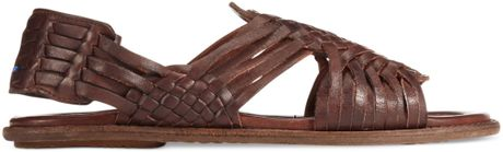 Frye Lawson Huarache Sandals In Brown For Men Dark Brown