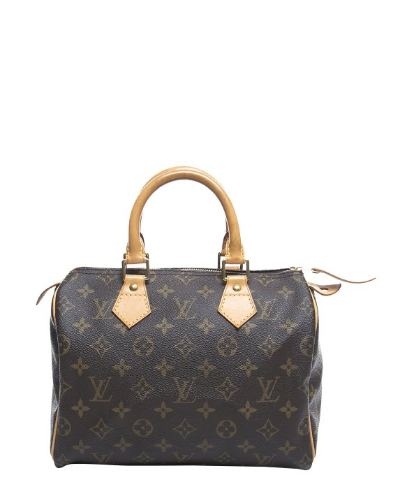 Louis Vuitton Trash Bags Gallery Louis Vuitton Pre Owned Monogram Canvas Speedy 25 Bag In Brown Lyst
