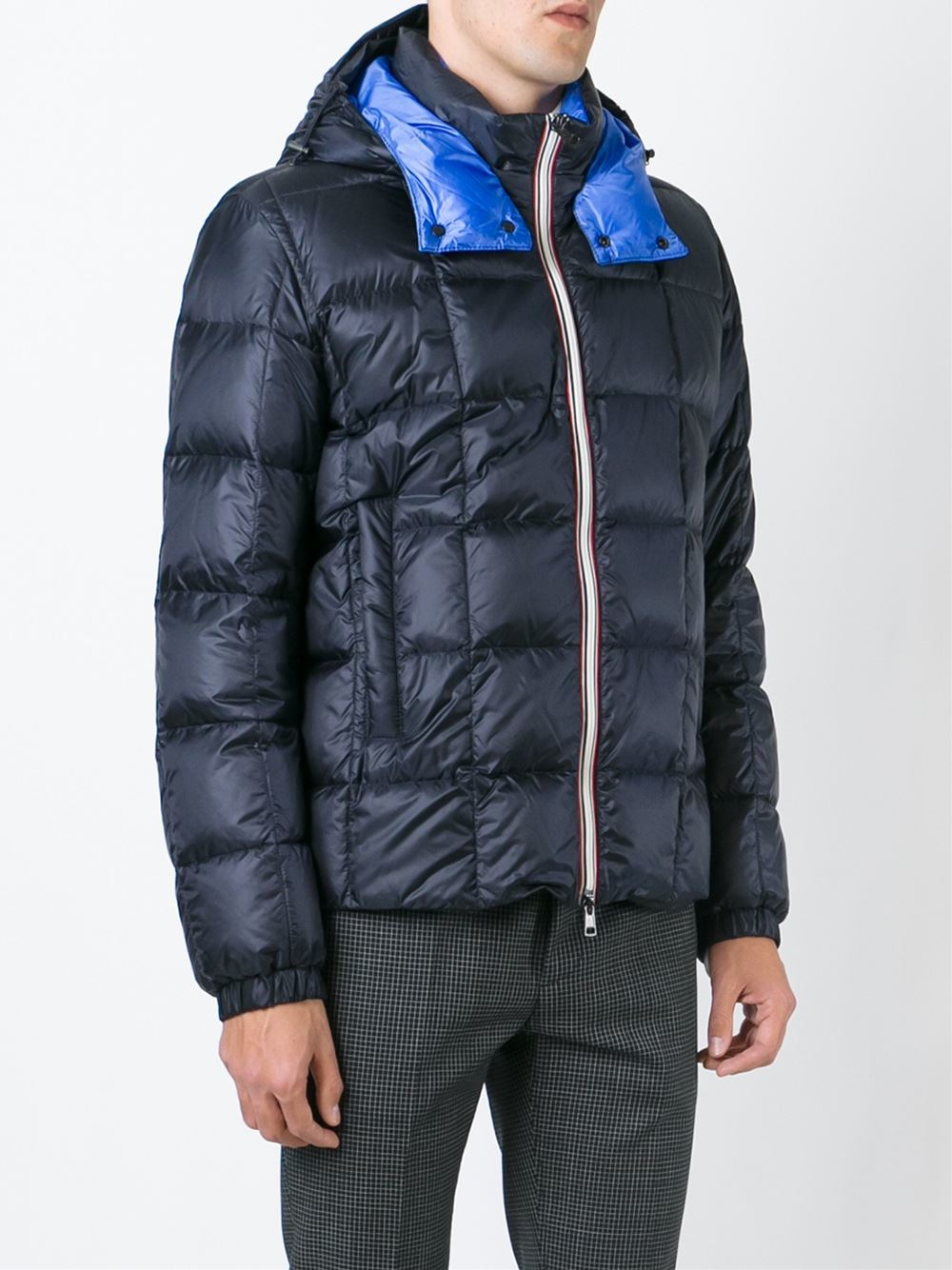Moncler 'lefranc' Padded Jacket in Blue for Men