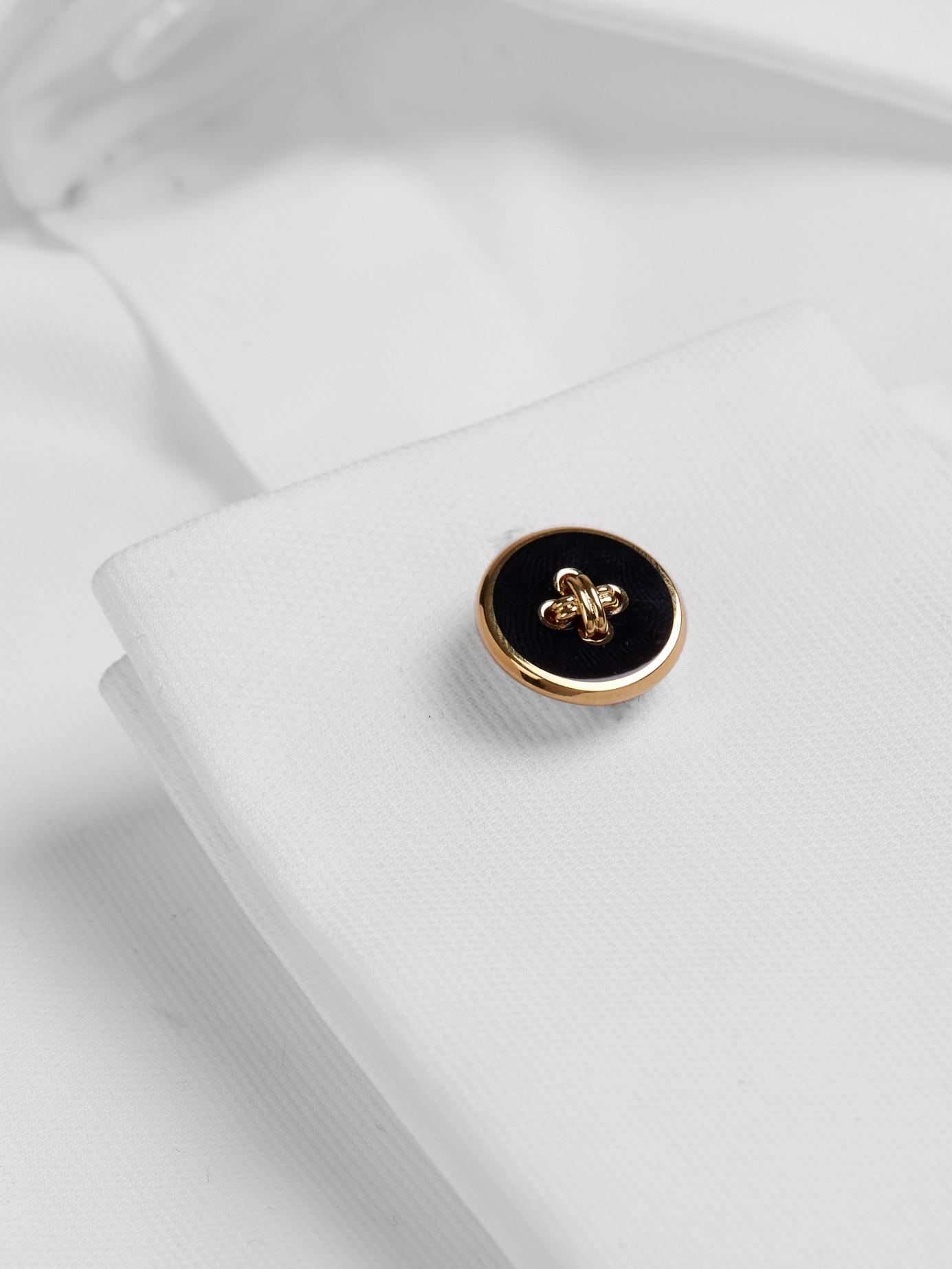 Dunhill Button Cufflinks in Black Silver (Metallic) for Men