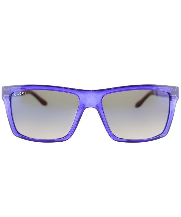 efb4e744a6 Lyst - Gucci Gg 1013 Cls Transparent Blue Rectangle Plastic ...