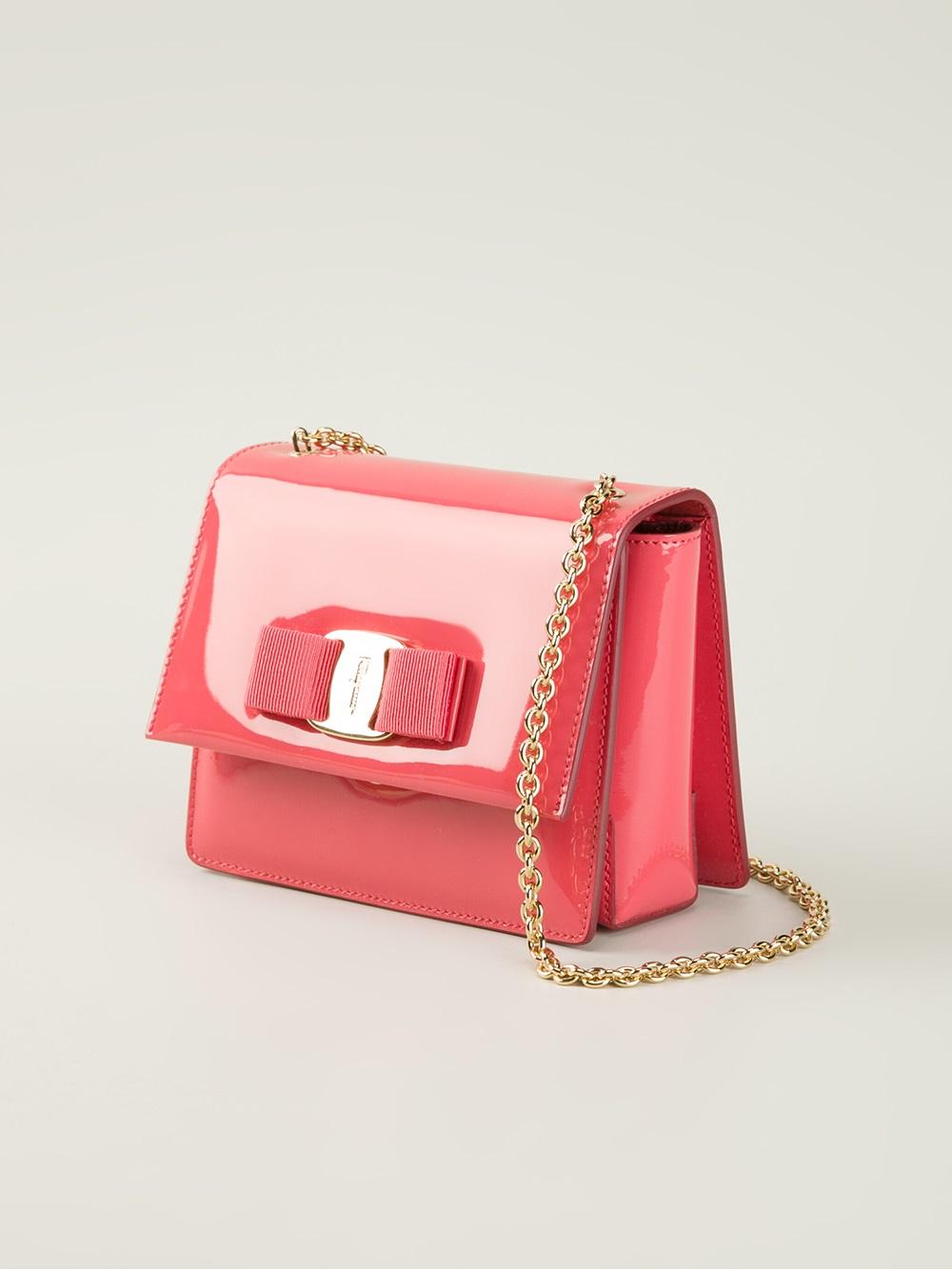Ferragamo Ginny Cross Body Bag in Pink & Purple (Pink)