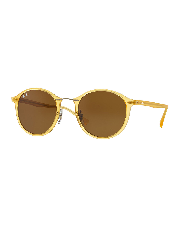 ban plastic metal sunglasses in yellow lyst