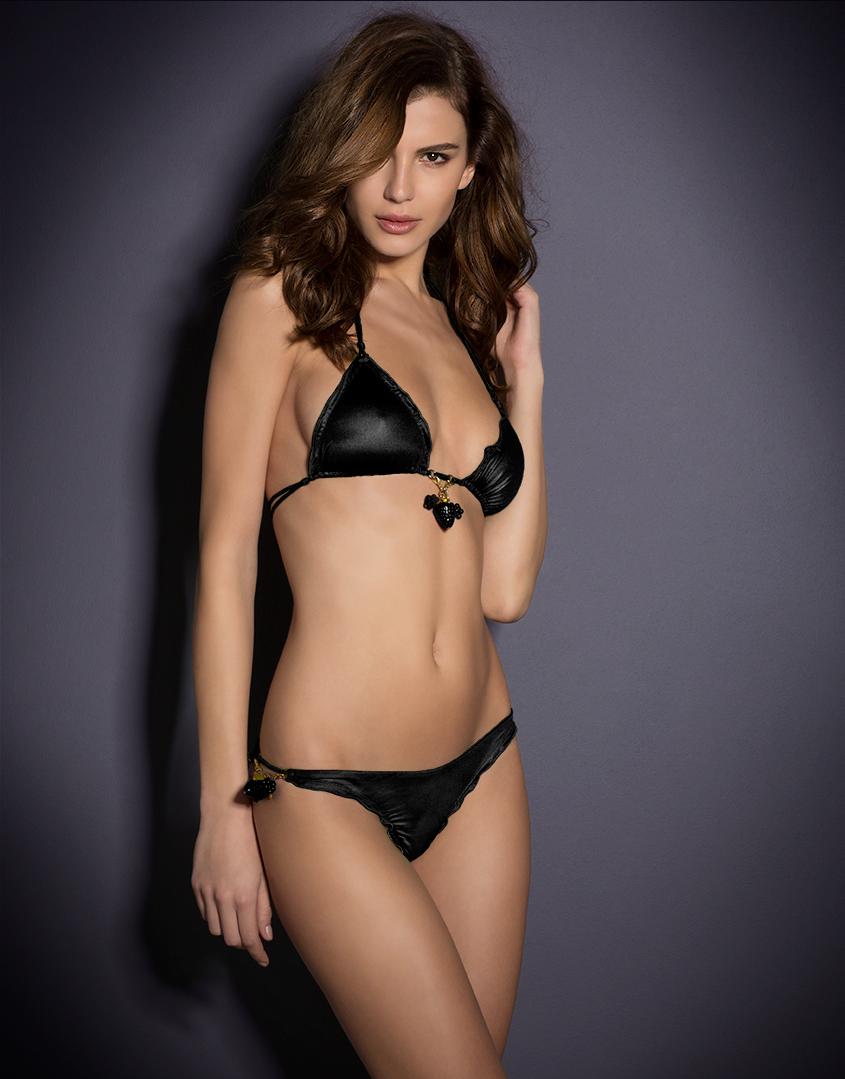 d6146908fe Agent Provocateur Berry Bikini Bra Black in Black - Lyst