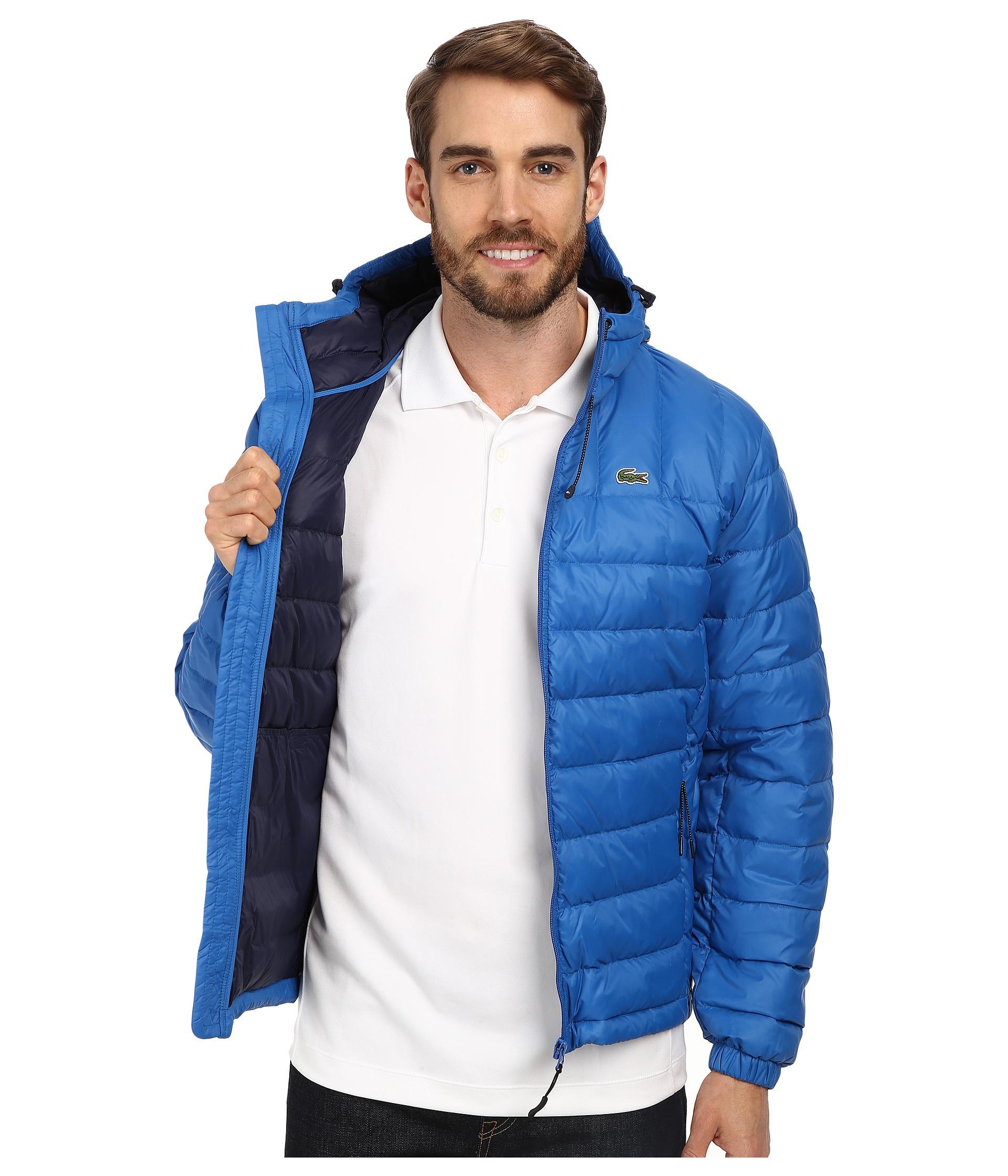 7dd35d832 Lyst - Lacoste Packable Down Jacket in Blue for Men