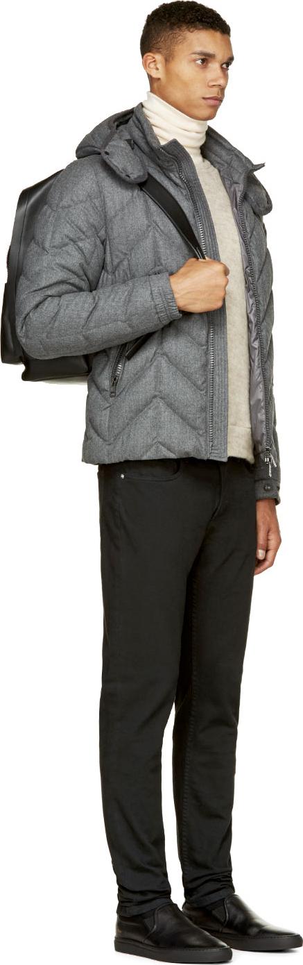 Moncler Grey Down Royal Jacket in Grey for Men