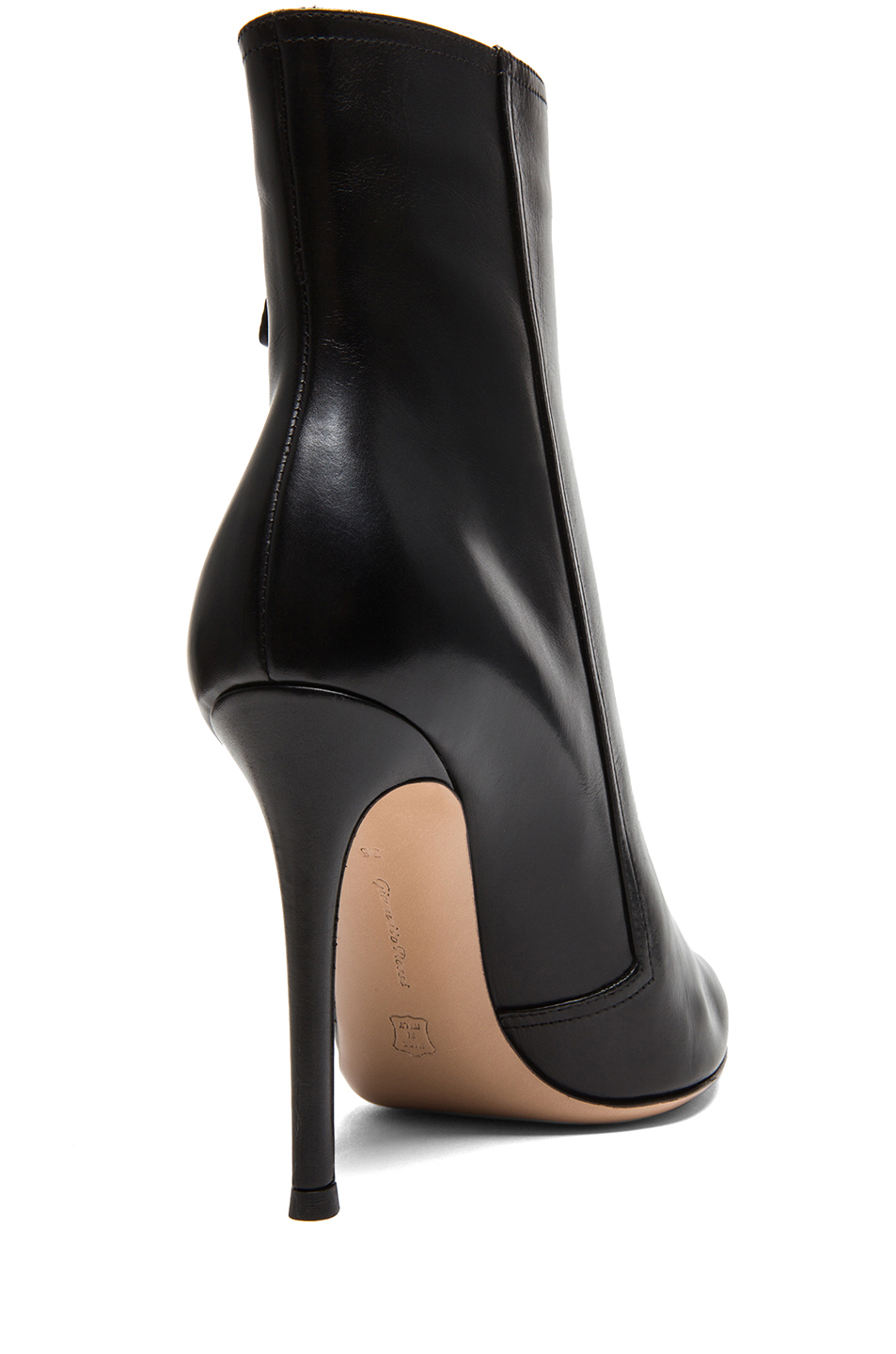 gianvito leather pointed ankle boots in black lyst