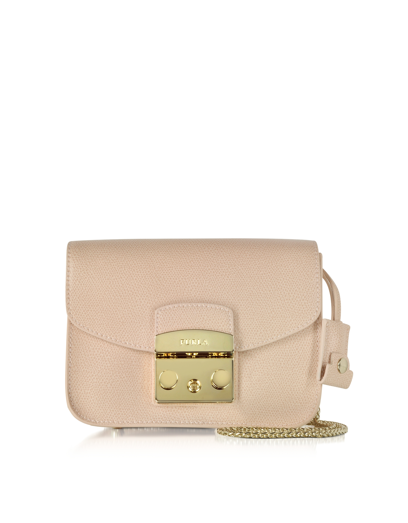 san francisco performance sportswear big discount Furla Metropolis Magnolia Leather Mini Crossbody Bag in Gold (Pink ...
