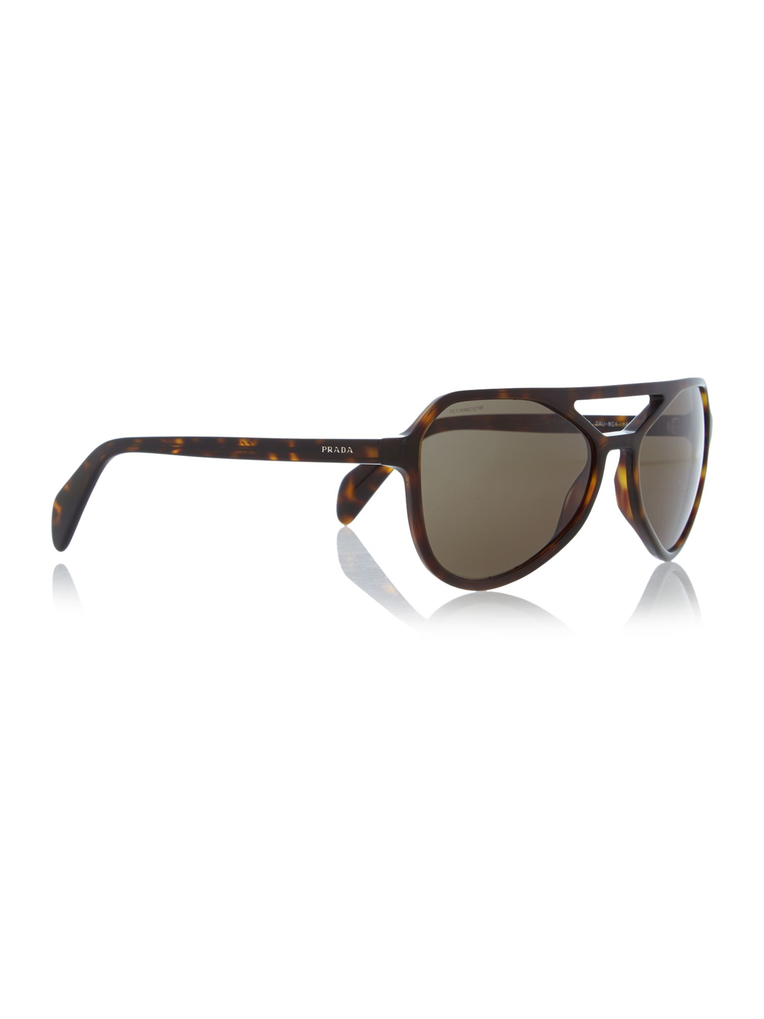 Prada Pr 22rs Aviator Sunglasses in Brown for Men