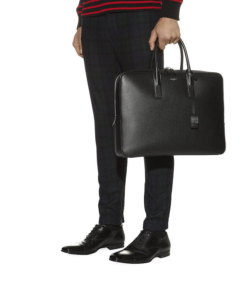 3a2665a063 Saint Laurent Black Briefcase Bag for men