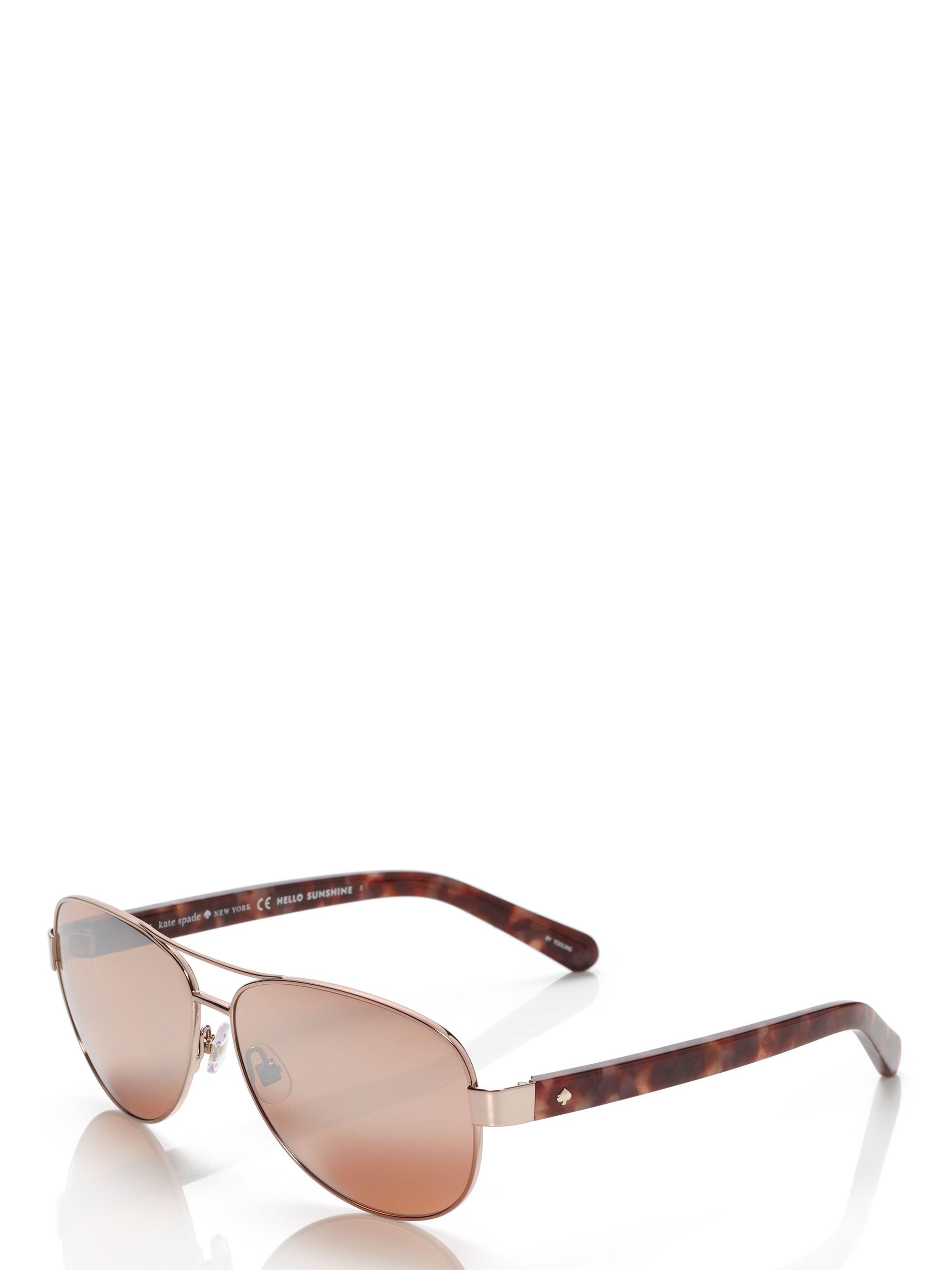 f11de584517e Kate Spade Dalia Sunglasses in Brown - Lyst