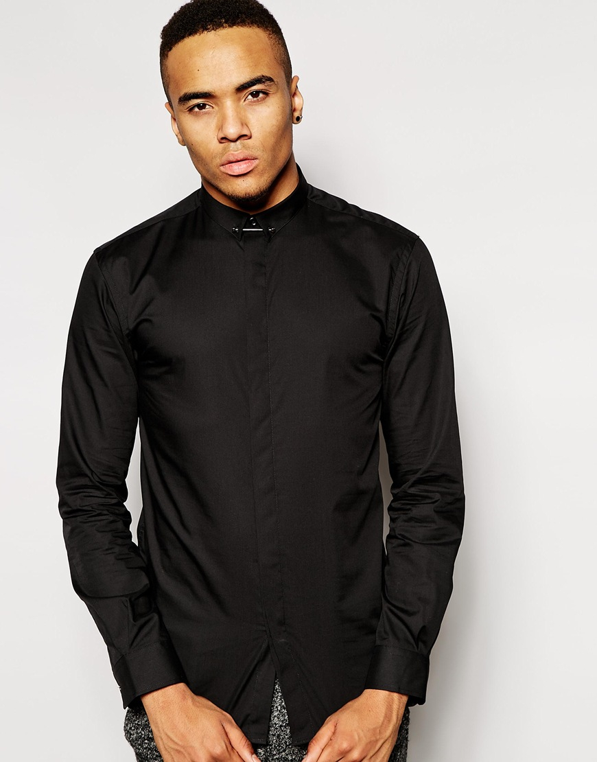 Bar 3 black dress shirt