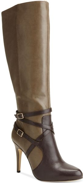 Inc International Concepts Womens Taigi Dress Boots in Green (Olive