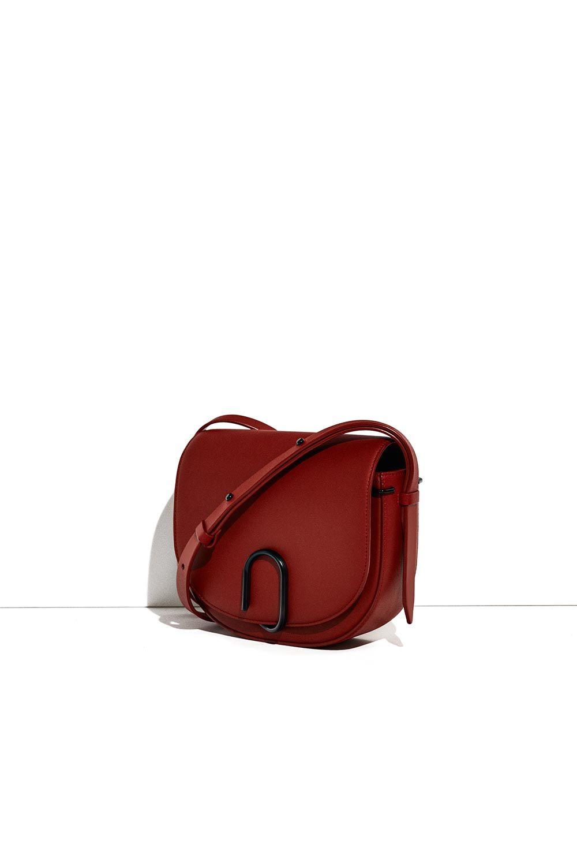 3.1 Phillip Lim Leather Alix Saddle Crossbody in Brick (Red)