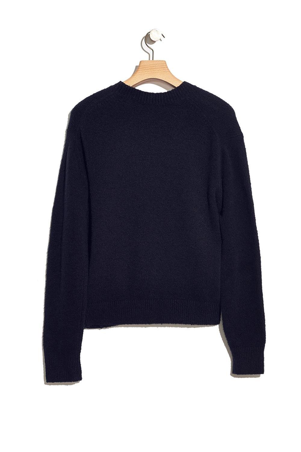 3.1 Phillip Lim Cotton Floral-intarsia Crewneck Sweater in Black for Men