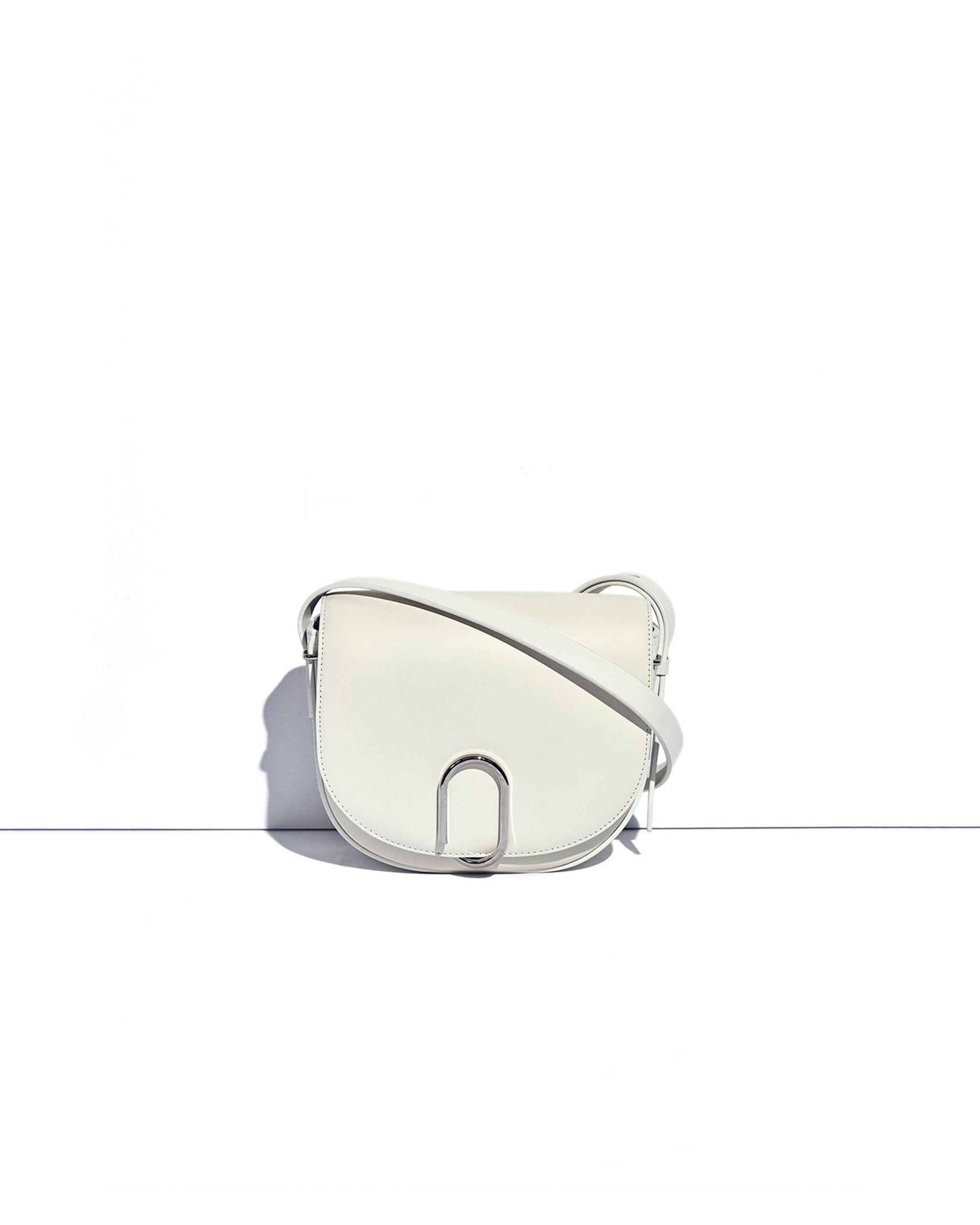 3.1 Phillip Lim Leather Alix Saddle Crossbody in White