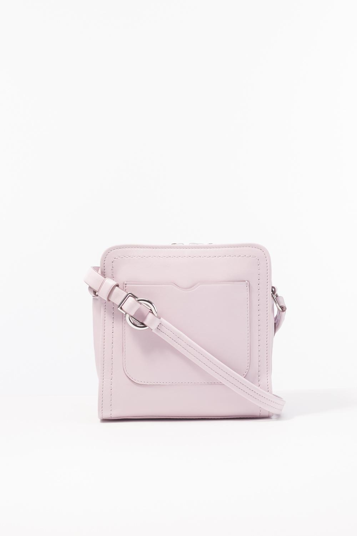 3.1 Phillip Lim Leather Hudson Mini Square Crossbody in Blossom (Pink)