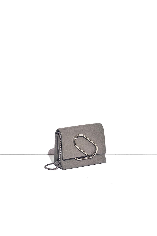 3.1 Phillip Lim Leather Alix Micro Crossbody in Grey