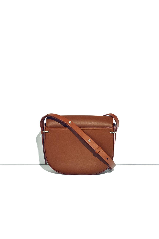3.1 Phillip Lim Leather Alix Saddle Crossbody in Brown
