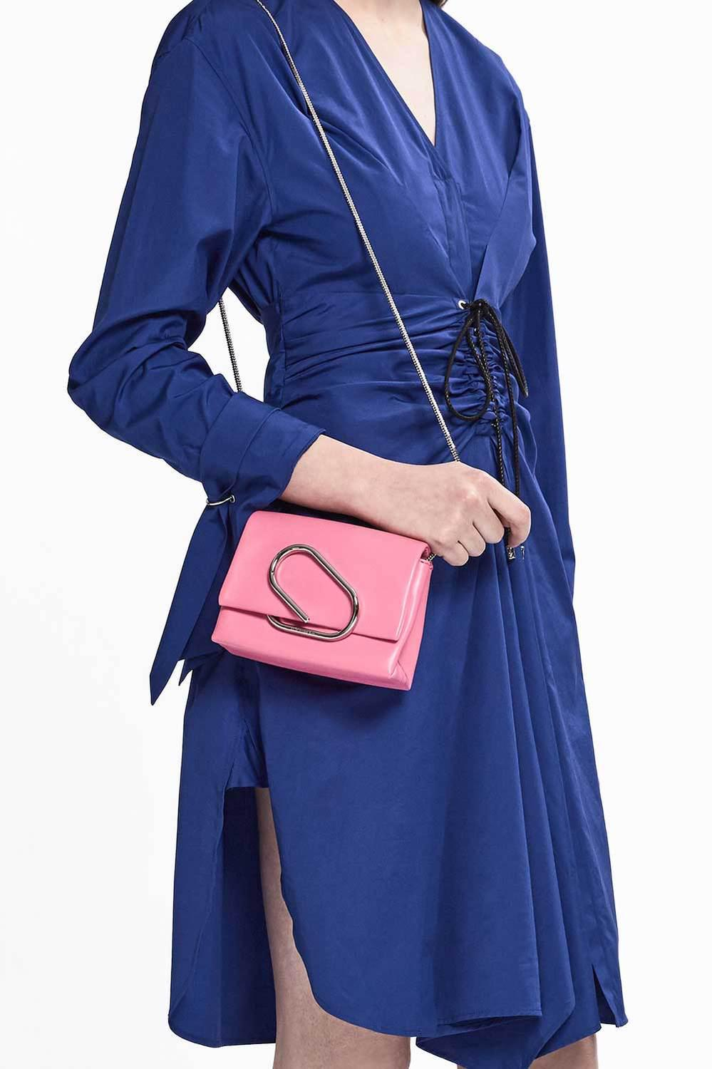 3.1 Phillip Lim Leather Alix Micro Crossbody in Candy Pink (Pink)