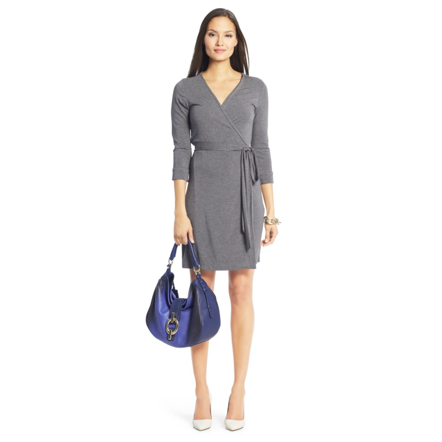 Diane von furstenberg new julian two jersey wrap dress in for Diane von furstenberg clothes