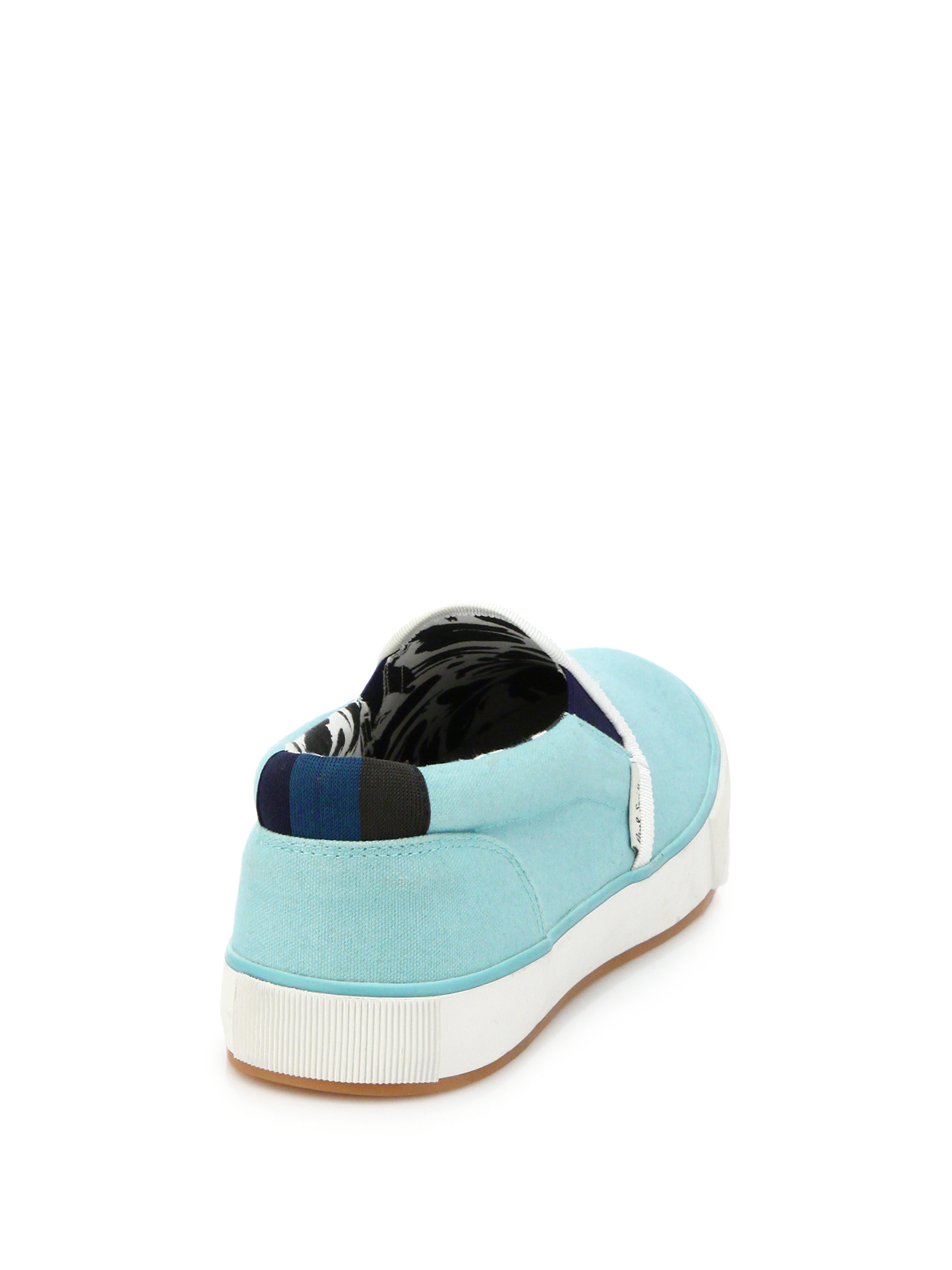 paul smith brontis canvas sneakers in blue lyst