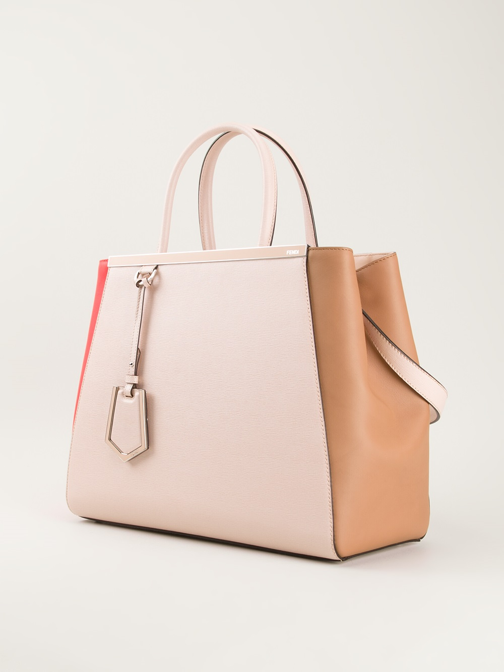 Fendi 2jours Colour Block Tote in Pink & Purple (Pink)