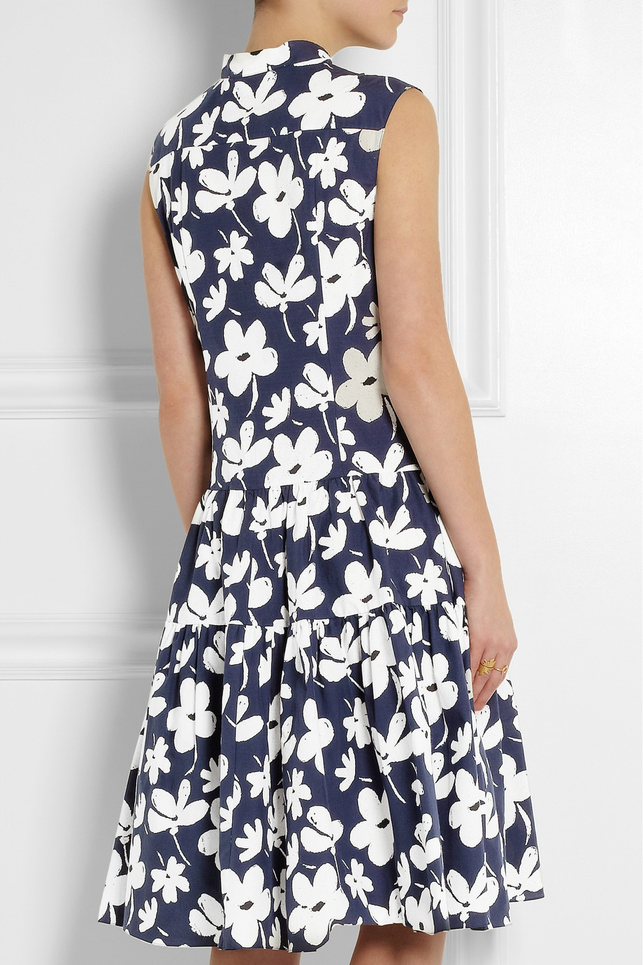 Marni Floral Print Dress In Blue Lyst