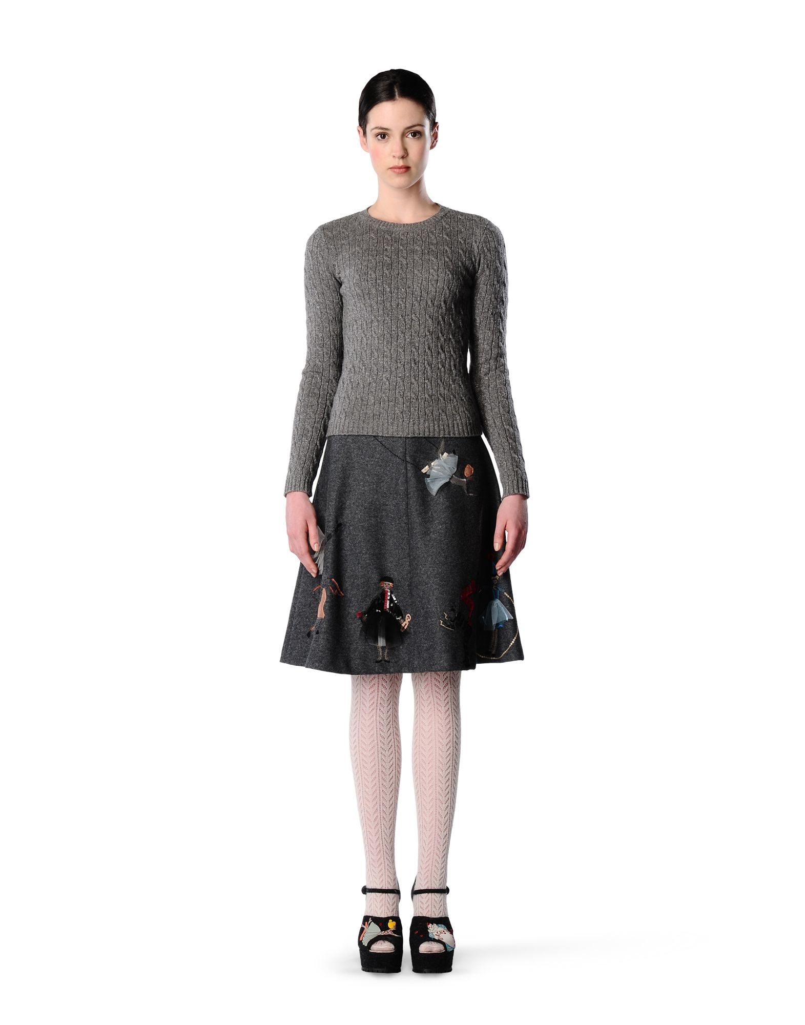 Women'S Lurex Red Sweater 119