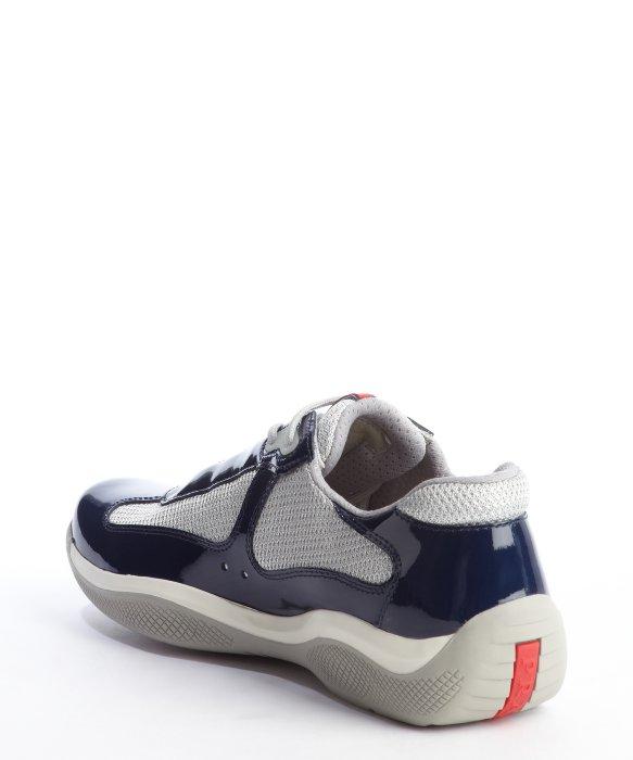 PradaLeather & Mesh Sneakers