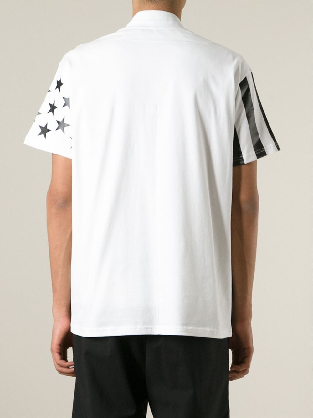 givenchy stars and stripes print t shirt in white for men lyst. Black Bedroom Furniture Sets. Home Design Ideas